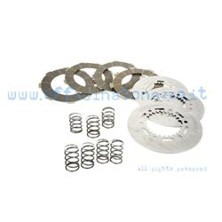 Clutch 4 carbon discs with intermediate discs and 7 springs for Vespa PX 200 - Rally - SS180 - GS160