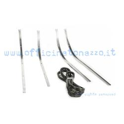 55030 - Footboard strips complete with ferrules and rivets for Vespa PK - S - ETS