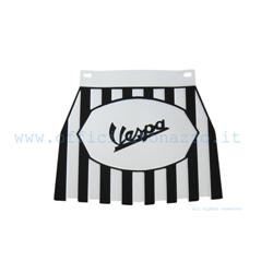 "133SS - Mud flaps (with black ""Vespa"" writing) in black and white ""Europa"" model rubber"
