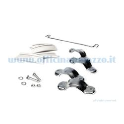 Right and left vise clamp bracket with union rod for Vespa GS
