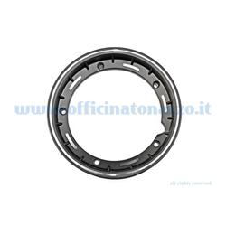 "5621 - Tubeless alloy rim 2.50x10 ""black channel for Vespa Cosa and adaptable to Vespa PX (valve and nuts included)"