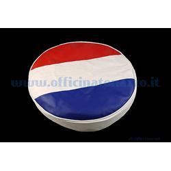 """100274 - Vespa Reserveradabdeckung mit französischer Flagge für 8 """"Rad"""