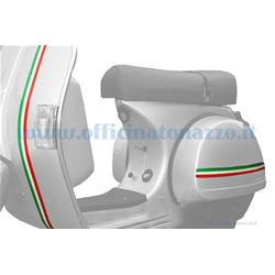 70064100 - Italian flag striped Vespa sticker, 72 x3 cm (3pc)