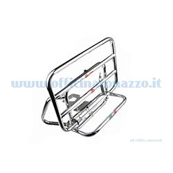 01200 / C - Faco chromed rear luggage rack with flap for Vespa ET2 - ET4