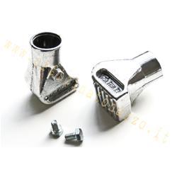 5045 - Patins de trépied Vespa en aluminium poli Ø22mm