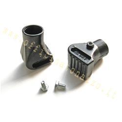 5046 - Chaussures de trépied Vespa en aluminium noir Ø22mm