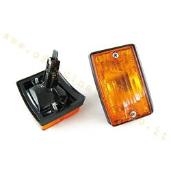 p277 - Pair of front orange direction indicators for Vespa PK, excluding XL
