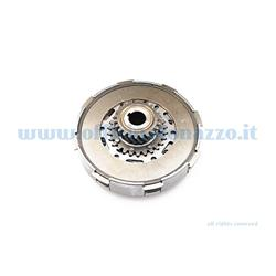 Complete clutch group 7031 discs 4 springs Ø flange 7mm pinion Z107 for Vespa 23