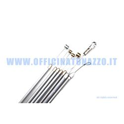 Gray cables / sheaths kit with internal self-lubricating sheath for Vespa 0207297 N - L - R - Special