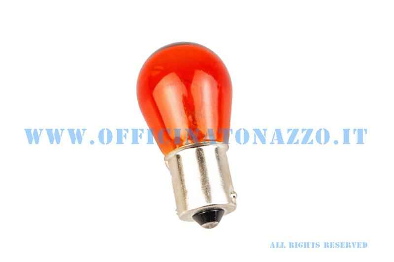 Lamp for Vespa bayonet coupling, sphere 12V - 21W orange with parallel pegs