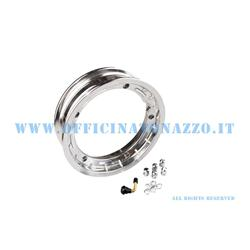 "5624 - Tubeless rim in alloy channel 2.50x10 ""polished aluminum for Vespa Cosa and adaptable to Vespa PX (valve and nuts included)"