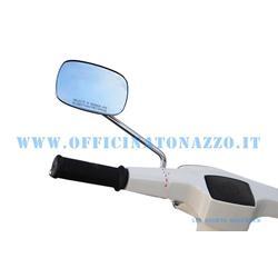 Espejo retrovisor izquierdo rectangular cromado (tamaño de barra 23 cm)