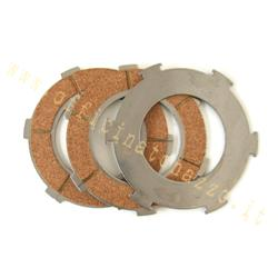 5586 - Clutch 3 cork disks for model with 6 springs for Vespa 125/150 PX - TS - GT - GTR - VNB - GL - Sprint