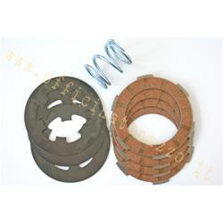 6650 - 4 cork clutches with intermediate disks and reinforced spring for Vespa 50 - 90 - Primavera - ET3