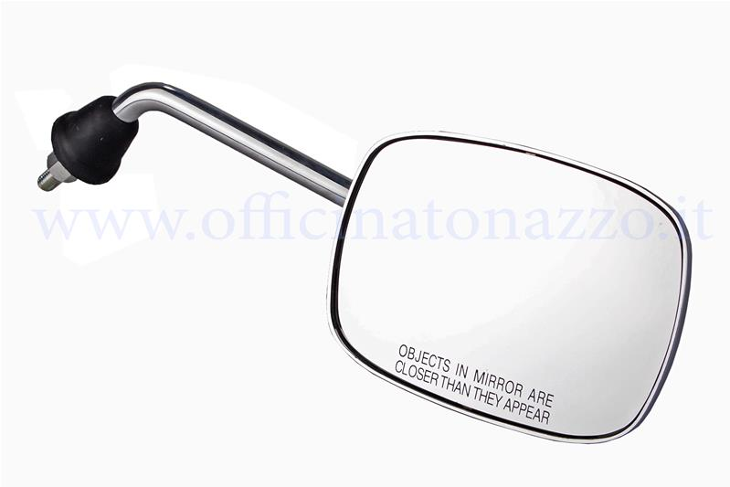 - Right chromed rectangular rear view mirror (bar size 17cm)