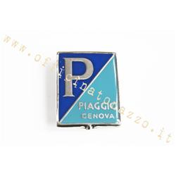 Piaggio Genova shield in enamelled metal for Vespa 125 '51> '54 (46,60 X 36,26)