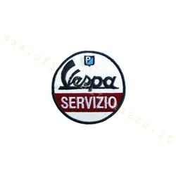 Vespa Service patch embroidered