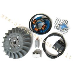 Ignition Parmakit variable advance cone 57016.22 - 19 kg with flywheel machined from solid for Vespa 1,5 - ET50 - Primavera - PK (gray fan)