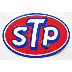 """""""STP"""" sticker, oval, 9.5x6.5 cm"""
