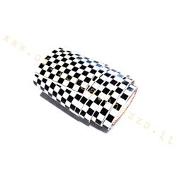 951230S - Vespa black and white checkered stripes sticker 56x6.5 cm (2 pcs)