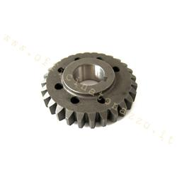 Ip z28 167 - DRT pinion Z 28 meshes on primary Z 68 (Ratio 2,43) straight teeth for Vespa 50 - Primavera - ET3