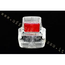 56257200 - Luminous body white rear light with red reflector for Vespa 90 - 90SS - Primavera