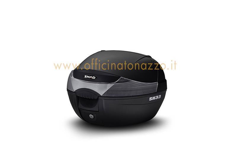 tapa superior para baúl vespa shad sh33 negro metalizado