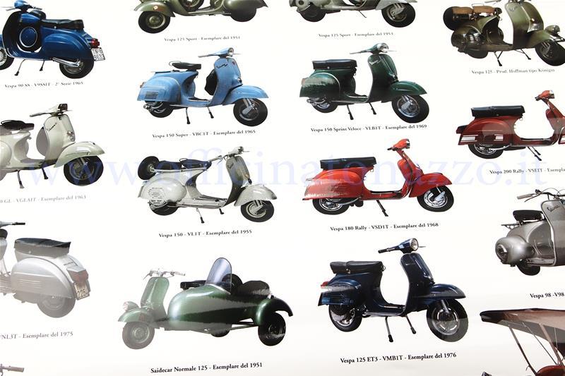 2c440e97bb 610158M - Poster Vespa con modelli vari, misura 70x100 (610158M)