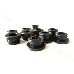 PG7656 - Capucha negra de goma para Vespa con ganchos externos