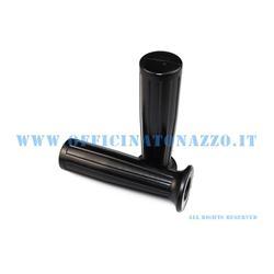 01659 / V - Par de pomos negros Ø 24mm para Vespa Cosa
