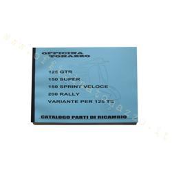 otz009 - Catálogo de piezas Vespa 125 GTR, 150 Super, 150 Sprint Veloce, 200 Rally