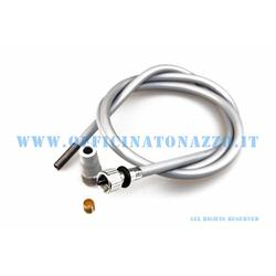 5639-T - Complete odometer transmission with ring nut connection, 2,7mm rope for Vespa 125 - 150 from 1963> 1966 wheels 8 ""