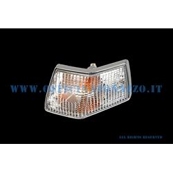 White right rear turn signal with chromed edges for Vespa PX - T5
