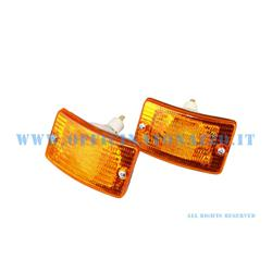 P280 - Pair of front orange direction indicators for Vespa PK XL-FL2