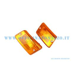 Pair of orange rear turn signals for Vespa PK XL- FL2