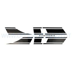 OTZ0050 - Vespa Electronic glossy black Vespa Rally sticker