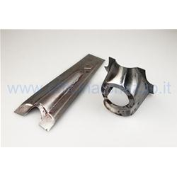 75323500 - Complete metal steering cover to be welded with Vespa 50 N hexagonal emblem (no red model) - L- R- Primavera- ET3
