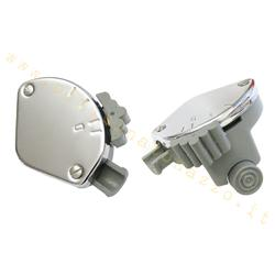 BO1544 - Grauer Lichtschalter mit verchromter Abdeckung 2 Aufnahmen für Vespa 125 V15T (Stabgetriebe) - 125 V30T> V33T (Drahtgetriebe)