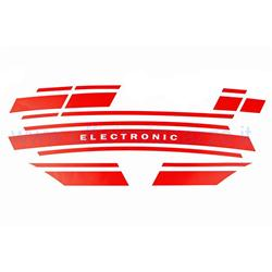 OTZ0056 - Vespa Electronic red sticker Vespa ET3