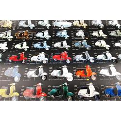 610314M - Vespa poster with various models black color size 70x100 original Piaggio (610314M)