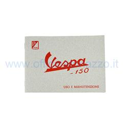 610044M - Use and maintenance manual for Vespa 150 from 1957