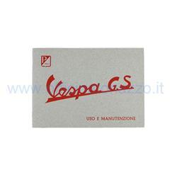 610041M - Gebrauchs- und Wartungsanleitung für Vespa 150 GS von 1955