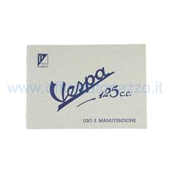 Use and maintenance manual for Vespa 125 from 1951 to 1952