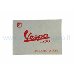 610040M - Use and maintenance manual for Vespa 150 from 1955