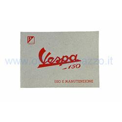 610040M - Manuel d'utilisation et d'entretien de la Vespa 150 de 1955