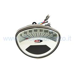 50001620 - Odometer and digital tachometer 2.0 with white background for Vespa ET3 - Primavera - Rally - Super - Sprint - TS - SS50 - SS90