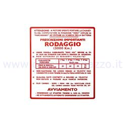 "ST0556 - Autocollant Vespa ""Running in 5%"" - 4 vitesses rouges"