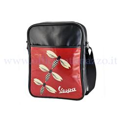 VPSB80 - Shoulder bag with Vespa (insect!), Red and black colors, 260x330x90mm