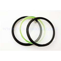 Komplettes Glasset und Rahmen mit grünem Kilometerzählerring für Vespa PX - PE, Durchmesser 81 mm (kein PX Arcobaleno)