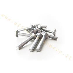 Aluminum rivet Ø3.5x23mm fixing Vespa footpeg strips toe caps